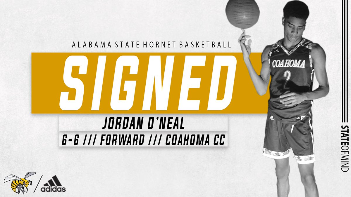 .@mowilliams adds his fourth signee with Coahoma CC forward Jordan O'Neal (@ii_ball23) on board for the 2020-21 season  Welcome to Hornet Nation ‼️  #STATEofMind https://t.co/GlZQYj3cuS