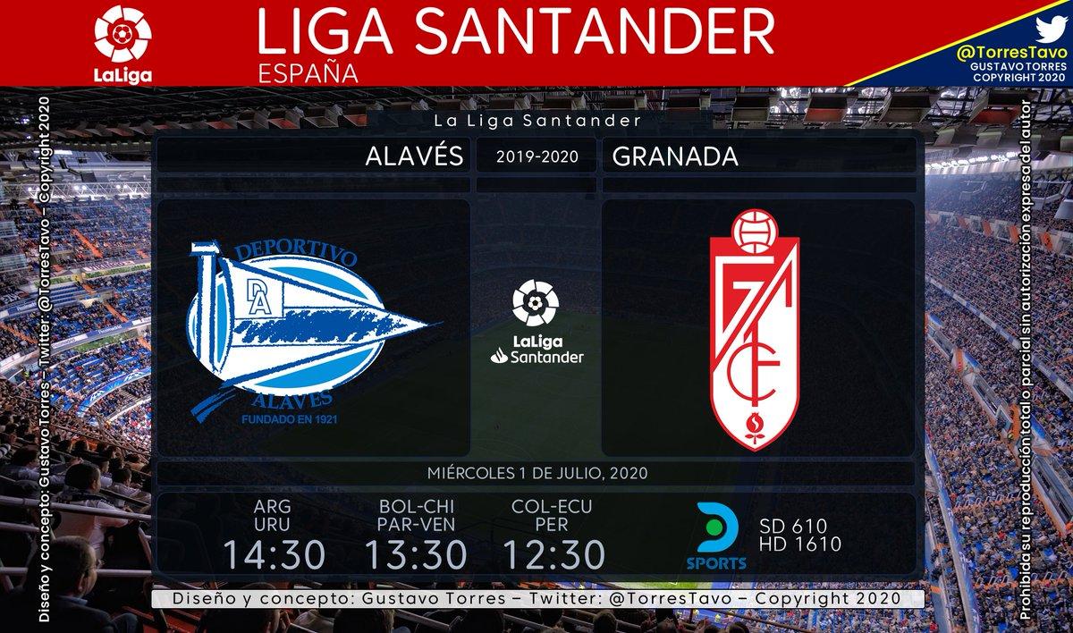 Alavés - Granada TV: @DIRECTVSports 610-1610 Narra: @haasenico Comenta: @fpetrocelli #FutbolEnDIRECTV https://t.co/Vg7IroUqbl