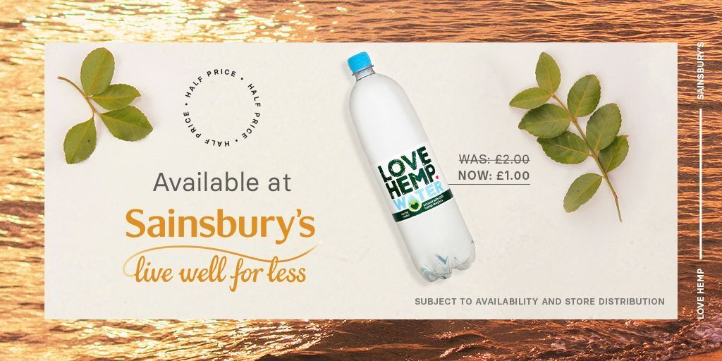 Did you know that you can add our CBD Infused Spring Water to your basket when you shop online at @sainsburys? It's also currently half price for a limited time only at only £1 per 1.5-litre bottle. Buy yours today 👉 https://t.co/cM9eSUEuwX https://t.co/AX1nCUYxVs