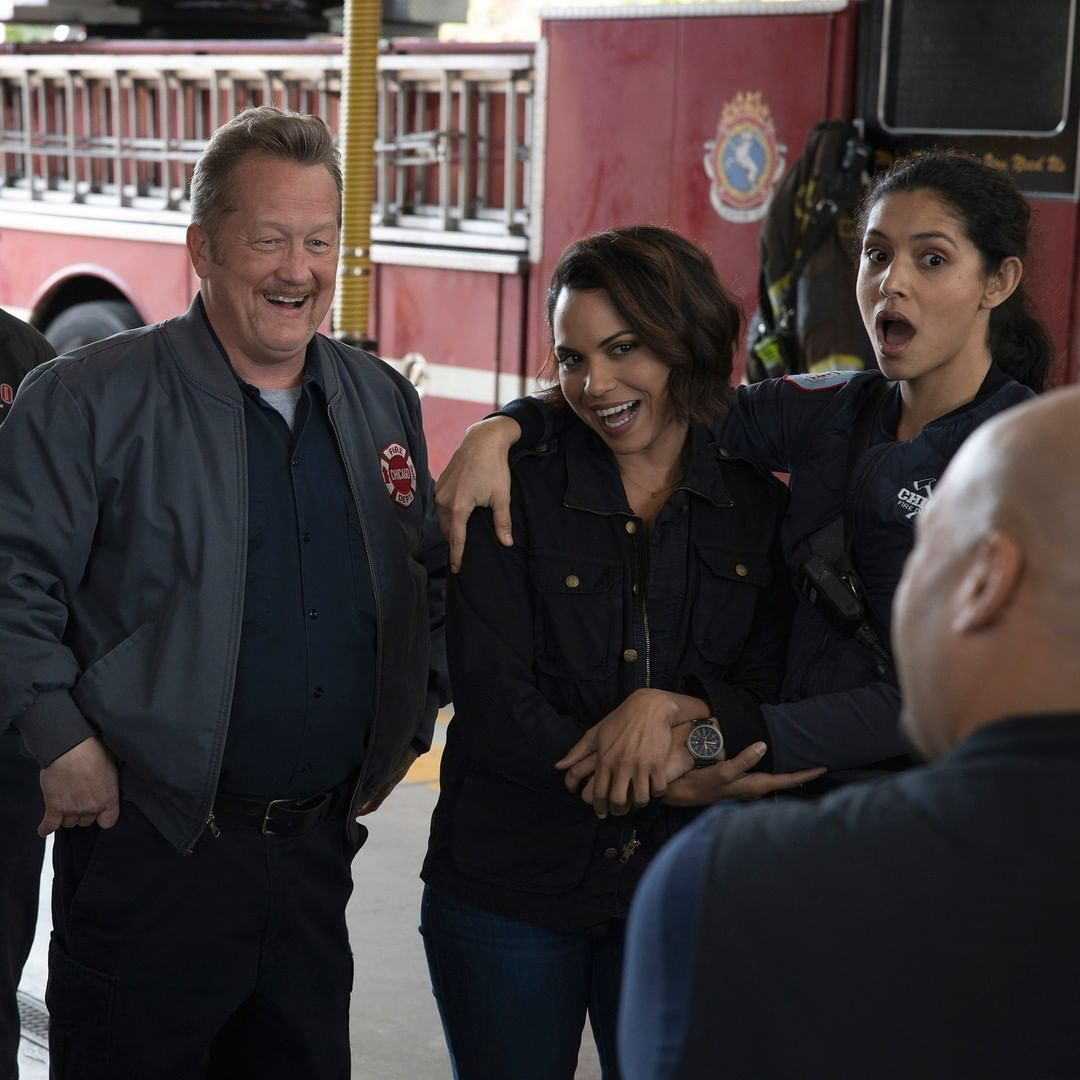 Don't mind us, we'll just be over here wishing we were hanging out with the @NBCChicagoFire crew. 😍 https://t.co/DcdOMeT93I