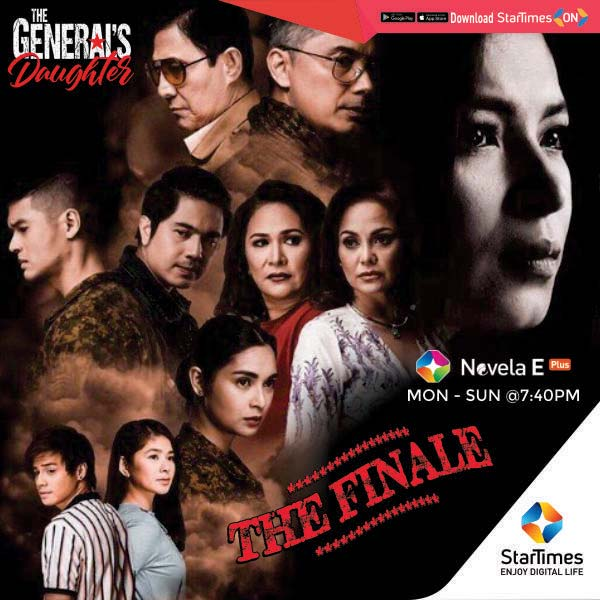 Hey #Stars!  Rhian Bonifacio is back for The General's Daughter Finale TONIGHT!   Don't miss the action-packed roller-coaster showing later today @7:40pm on #STNovelaEPlus  #TGD #TheGeneralsDaughter #SeriesOnStarTimes #TelenovelaOnStarTimes https://t.co/PCaSXSC8Mq