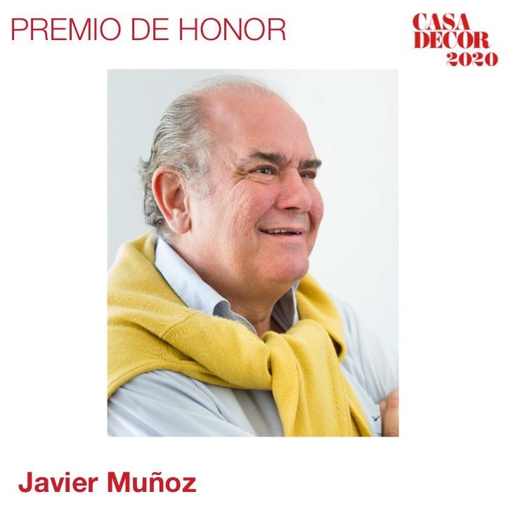 El Premio de Honor 2020 es para Javier Muñoz Brandon, @javiermunozbrandon por toda una carrera brillante dedicada al interiorismo.  #CasaDecor2020 #CasaDecorSostenible #Velázquez21 #PremiosCasaDecor En directo🔊 https://t.co/KHvRRnN18G https://t.co/C0gtiTyPXF