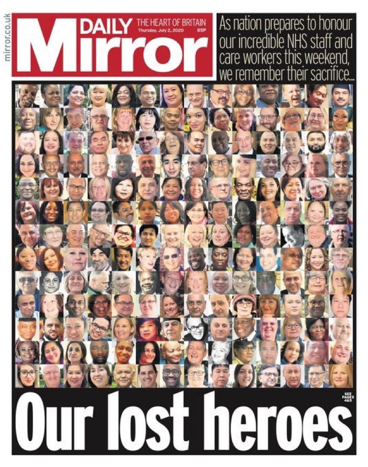 We will never forget the brave sacrifices of the heroes in our NHS. To honour them we must not repeat the same mistakes in the next stage of this pandemic.