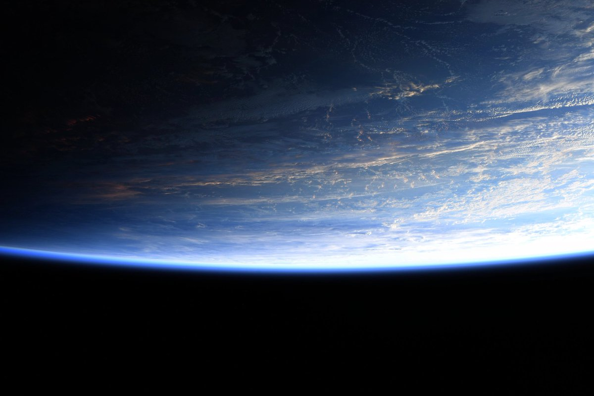 I never get tired of this view from the Cupola as our orbit transitions into night.