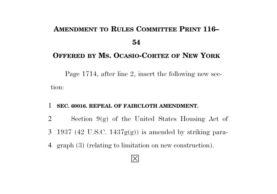 Guess who's repeal of the Faircloth Amendment just passed the House! 😌   Faircloth has blocked construction of new public housing in the United States for 20+ YEARS. Repeal is key to tackling our housing crisis.  THANK YOU to the advocates who've worked so hard to get here. https://t.co/JkcJvNBr72