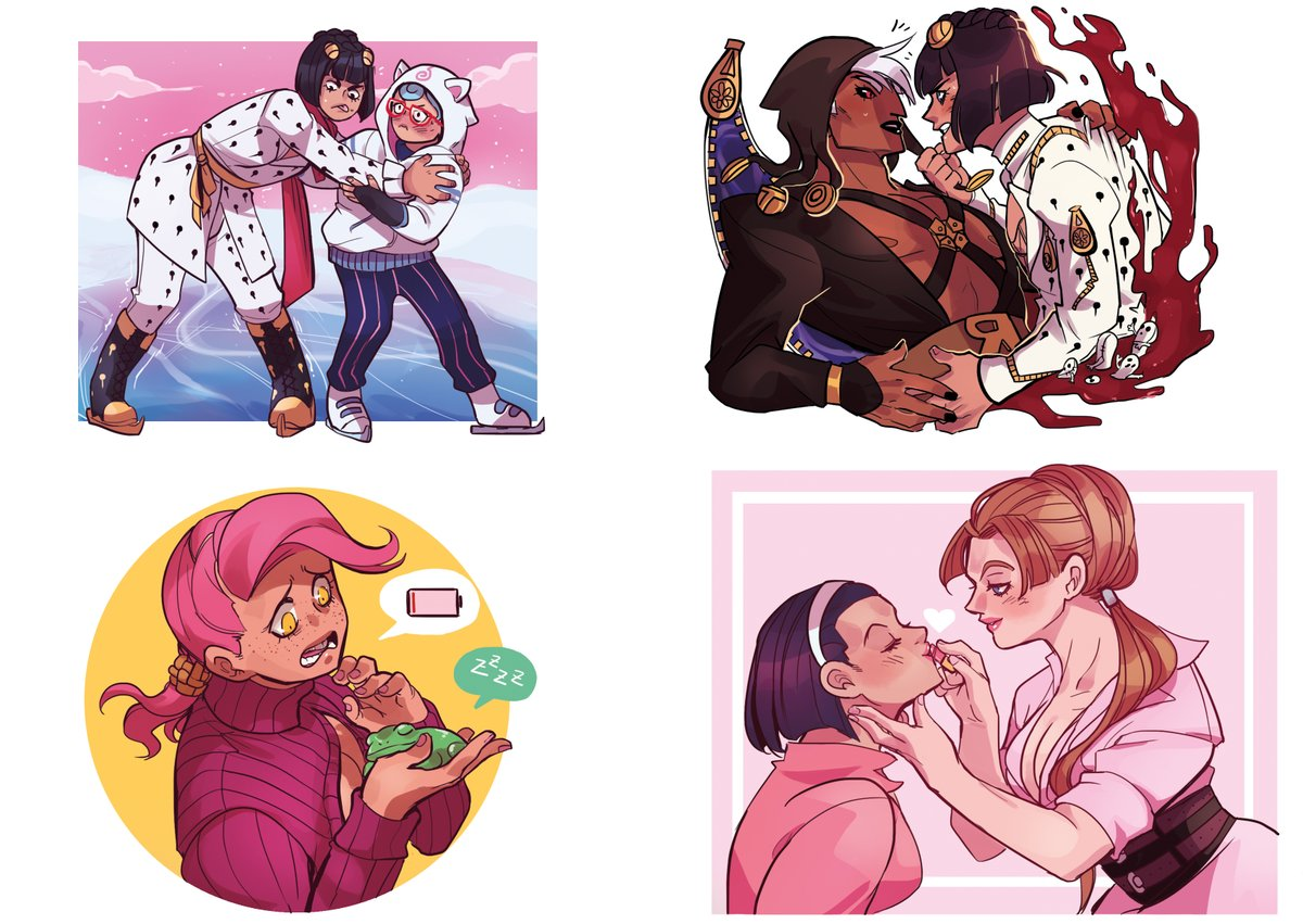 JJBA Single Stickers are done!!  Each of these will be sold separately!  They'll be available at Fantasy Basel (if it takes place!) and in the online shop in late November!  I really hope you like them!  Like half of these are rarepairs bwahahaha  <br>http://pic.twitter.com/lEalbqqVpS