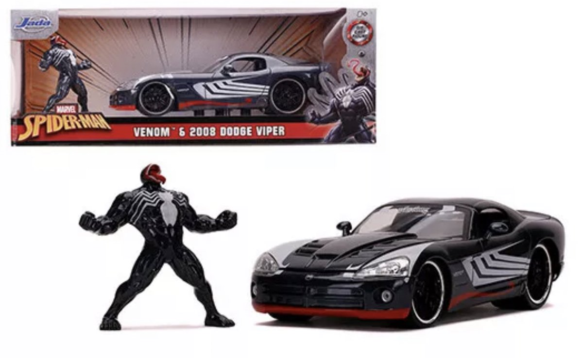 JadaToys is releasing a new Nano Metalfigs set with a new Venom dicast figure and a very cool Venom themed 2008 Dodge Viper! pic.twitter.com/dEeJwr4n1m  by TheVenomSite