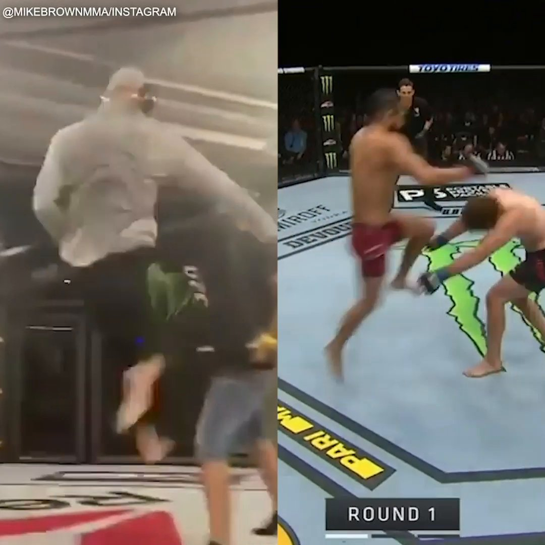 Hours before Jorge Masvidal and Conor McGregor knocked out their opponents in seconds, they were practicing those exact moves 🤯 @espnmma  (via @mikebrownmma) https://t.co/Akttg7zhiV