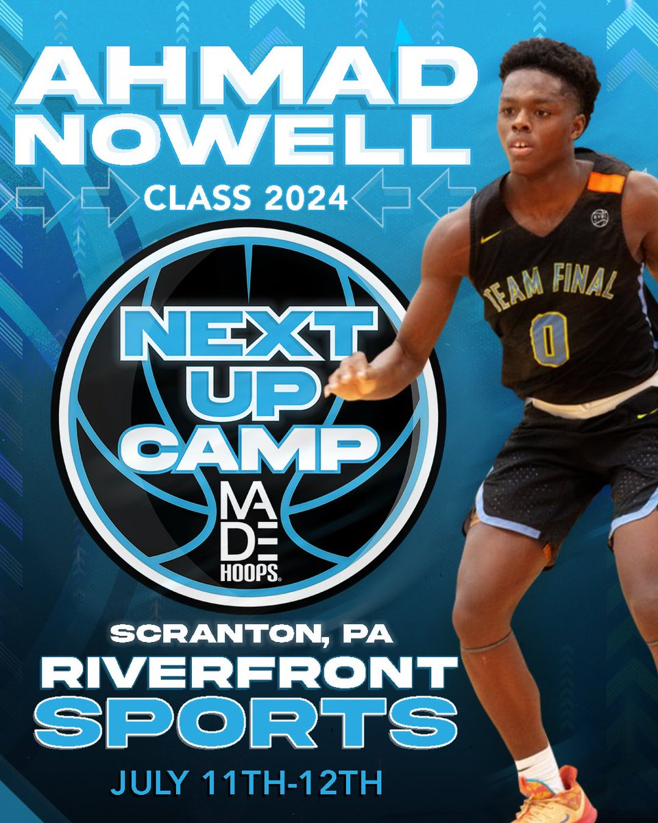 📈 2024 PG Ahmad Nowell is NEXT UP in Philadelphia! Catch him at camp on July 11th-12th weekend!  🗓: July 11th-12th, 18th-19th, & 25th-26th ⛹️: Classes 2021-2026 🏟: Riverfront Sports 📍: Scranton, PA 🎥: Live Streamed  Register: https://t.co/Pwy8j4Nvqa https://t.co/TtexYeO20r