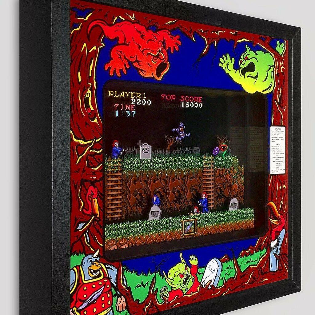Ghosts 'n Goblins by @capcomusa is Here! https://t.co/AVzJQj1eJP  #art #artwork #shadowbox #ghostsngoblins #ghost #goblin #game #arcade #arcadegames #adventure #rescue #videogame #gamer #gamergirls #gamerguy #1980s #knight #demon #runandgun #nes #nintendo https://t.co/85EoXppuag