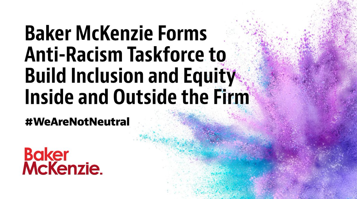 Baker McKenzie has formed an Anti-Racism Task Force in North America, focused on promoting anti-racism and building greater inclusion and equity both within our Firm and in the legal industry. Learn more about our efforts: https://t.co/qDE3GnI4jE https://t.co/ZLbuuK1ZHk
