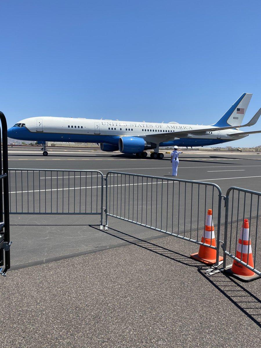 US Vice President Mike Pence has arrived in #Phoenix #covid19 #Ariizona