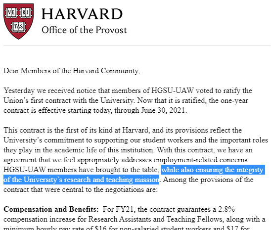 Provost Garbers emails about @hgsuuaw always illuminate He knows our contract doesnt have the neutral grievance procedure for harassment weve demanded So, 1 month after a massive scandal, I cant read this as anything else: this contract protects our sexually abusive profs