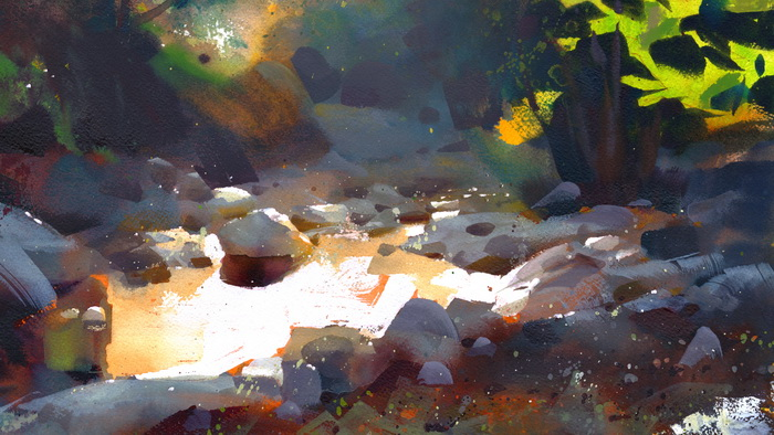Angeles pond, watercolor.
