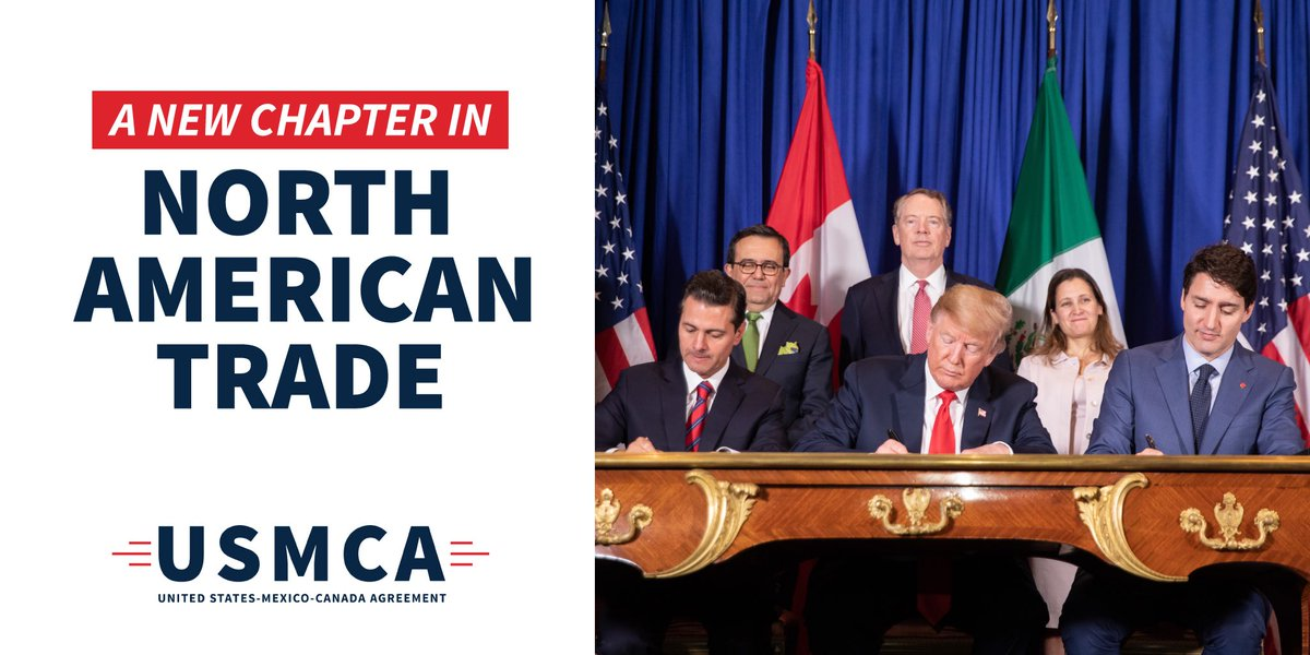 Incredibly grateful for @realDonaldTrump's leadership on trade. He's looking out for American workers—not giving away the shop. The USMCA goes into effect today. A big win for the USA! Never would have happened without him in the White House. https://t.co/q3gWr3fm9F