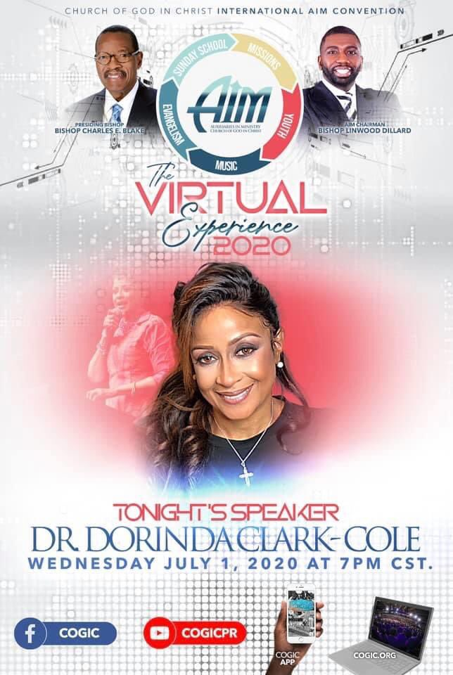 @COGICIDOE (every soul winner, every outreach worker, every evangelist) let us support our International Elect Lady tonight, Dr @DorindaTheRose, in record numbers! #COGICIDOE #thereisaWord pic.twitter.com/rw4FPIAvVY