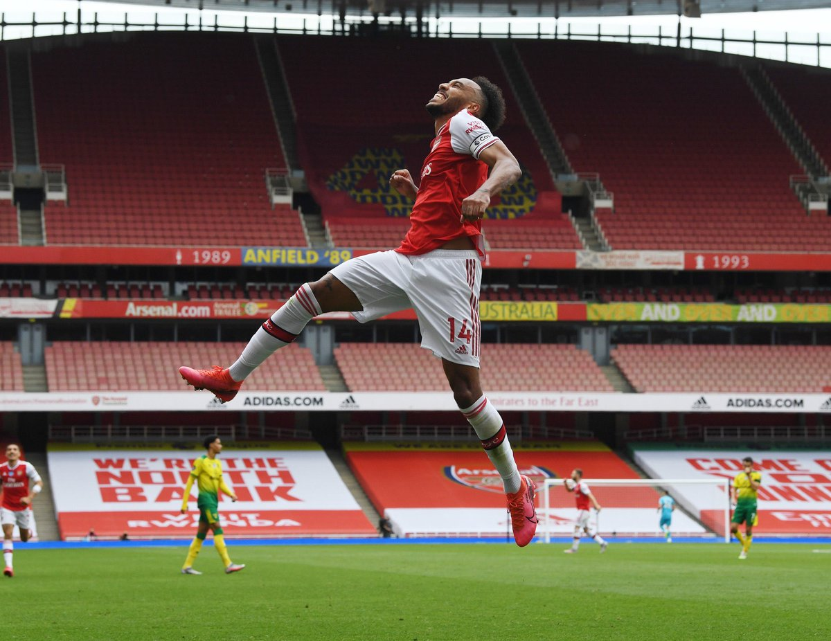 Yep he's been good today!   #Arsenal #Football #Aubameyang pic.twitter.com/rwvtMN6rAX