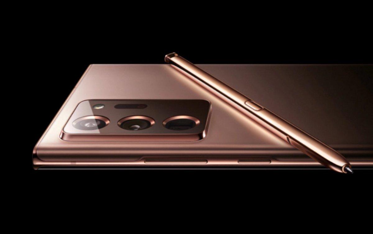 صورة يقال أنها للجالكسي نوت 20 باللون الذهبي.  #تقنية #GalaxyNote20 https://t.co/QpXm3wnYqY