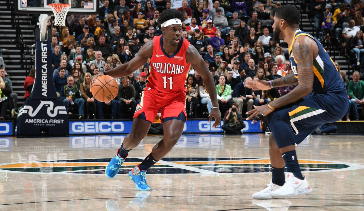 """The #NBA's resumption of play in Orlando will be characterized by unfamiliar surroundings, but #Pelicans will have their longest-tenured member on hand. Jrue Holiday on the upcoming event and bubble: """"It's a challenge, but I think it's worth it."""" Story: https://t.co/xzR6fSGhKO https://t.co/ebsPHCEMtu"""