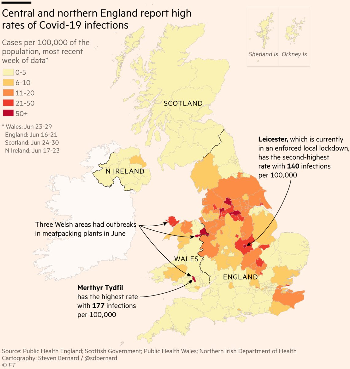 Prof Devi Sridhar On Twitter This Map Shows Still High Rates Of Covid In Parts Of Uk Even After 12 Weeks Of Lockdown Largely Wasted Delay Opening Pubs July 4th Support Local