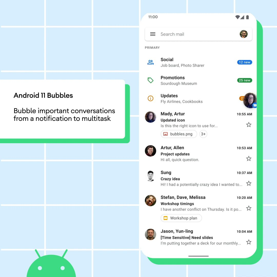 Bubbles on #Android11 will help you manage multiple conversations, even while you're getting other things done on your phone.