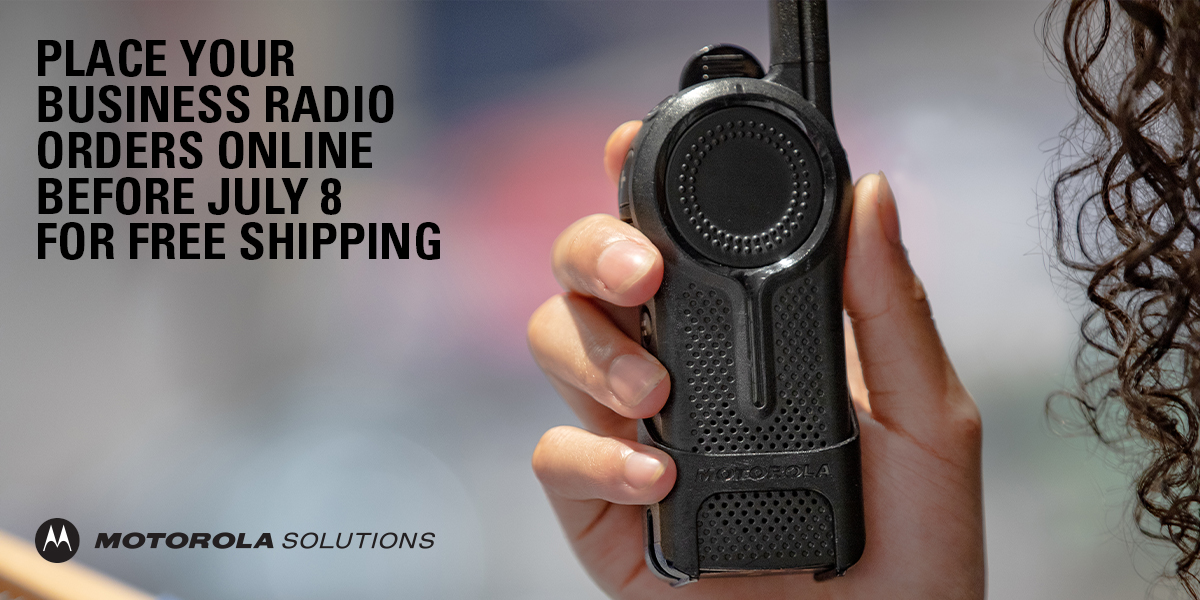 We've made it even easier to connect your business with our #TwoWayRadios! Shop online and place your order before July 8 for free shipping for our series of business radios. Shop now: https://t.co/qvdExuFzaN https://t.co/WYKLkDe8dw