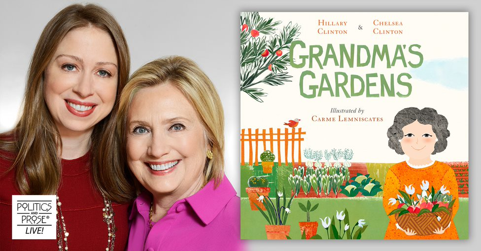 Tuesday, @hillaryclinton and @chelseaclinton join @lmuscatine for a virtual live reading of their first picture book together, GRANDMA'S GARDENS. A limited supply of signed bookplates will be included with book purchase, so make sure to register now! https://t.co/iPRoBby8y2 https://t.co/w9vC1jryBJ