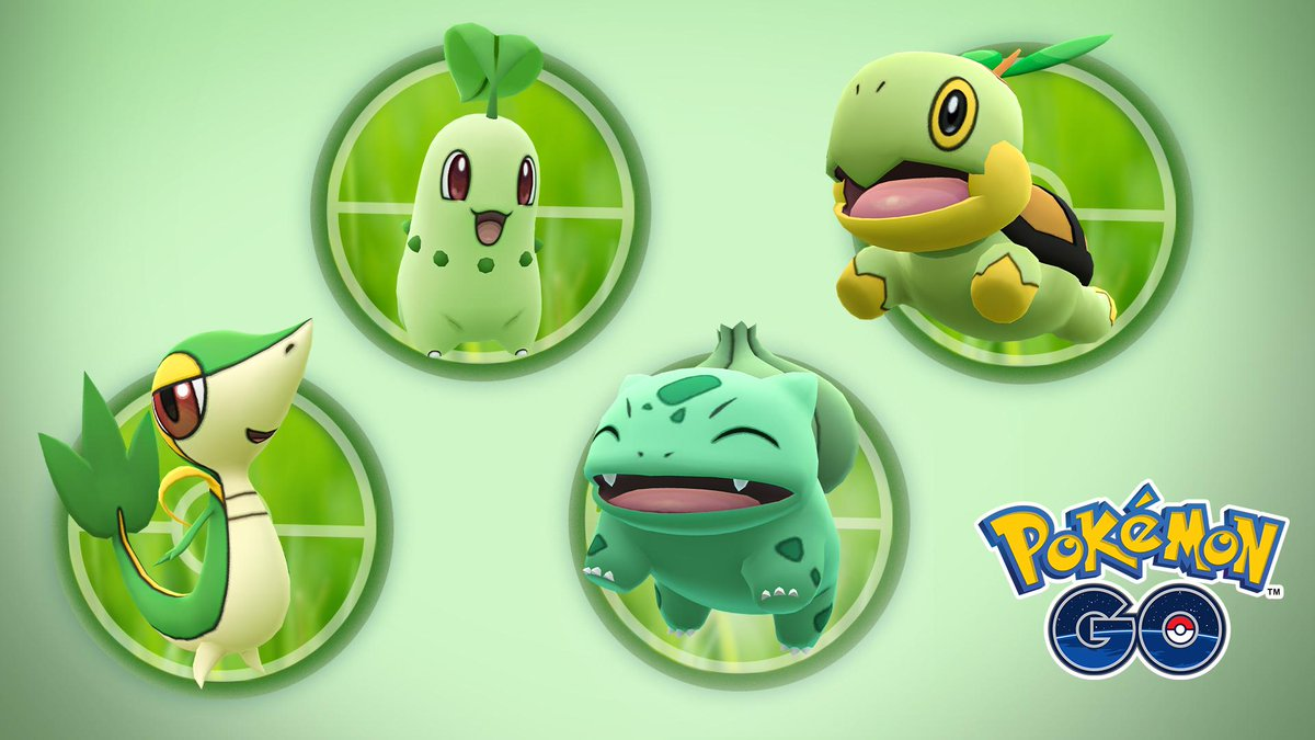 From the grassy hills of the Kanto region to the forests of the Sinnoh region, which one of these Grass-type Pokémon is your favorite and why?  Bulbasaur  Chikorita  Snivy  Turtwig pic.twitter.com/JKkvFAaFQd  by Schneetorte