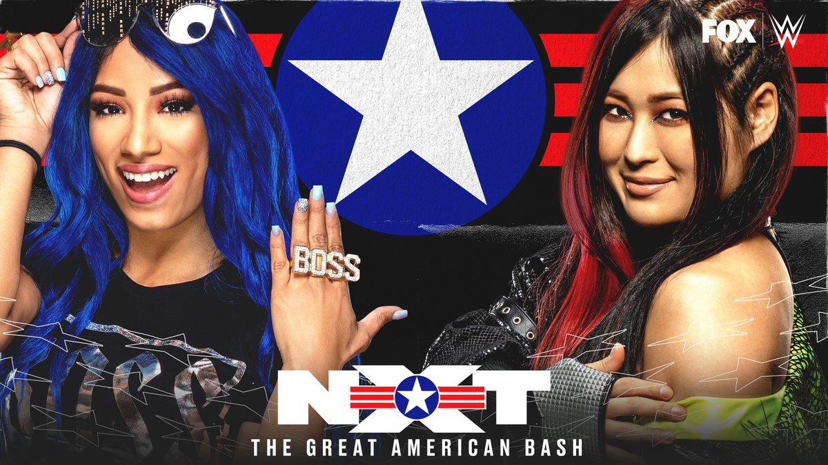 DREAM MATCH ALERT   It's @SashaBanksWWE vs. @shirai_io TONIGHT at #NXTGAB!pic.twitter.com/ay1bmrX7Bo  by WWE on FOX