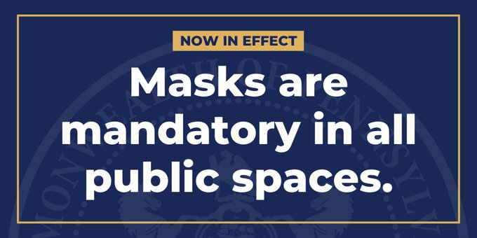 Now in effect: Masks are mandatory in all public spaces