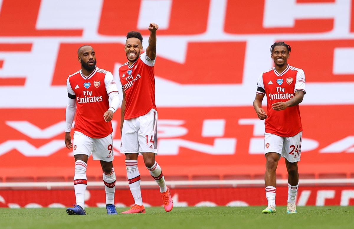 Arsenal 4-0 Norwich: Aubameyang smashes brace as Gunners get 3 straight wins #Arsenal #aubameyang #PremierLeaguepic.twitter.com/utLSnFw6Px