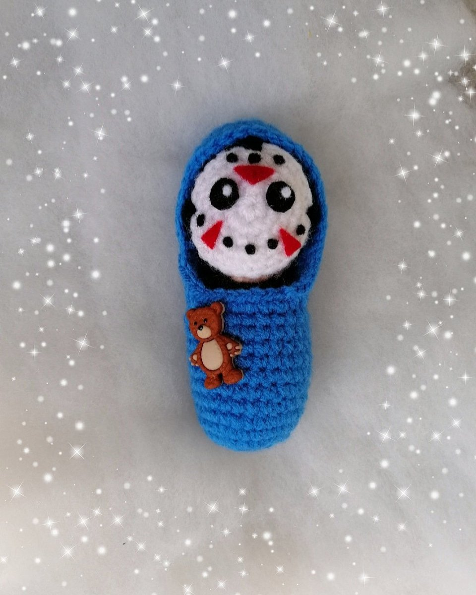 Babylirious 💙 Congrats @LizKatzOfficial and @H2ODelirious I'm so happy for you two. 🐻 #crochet