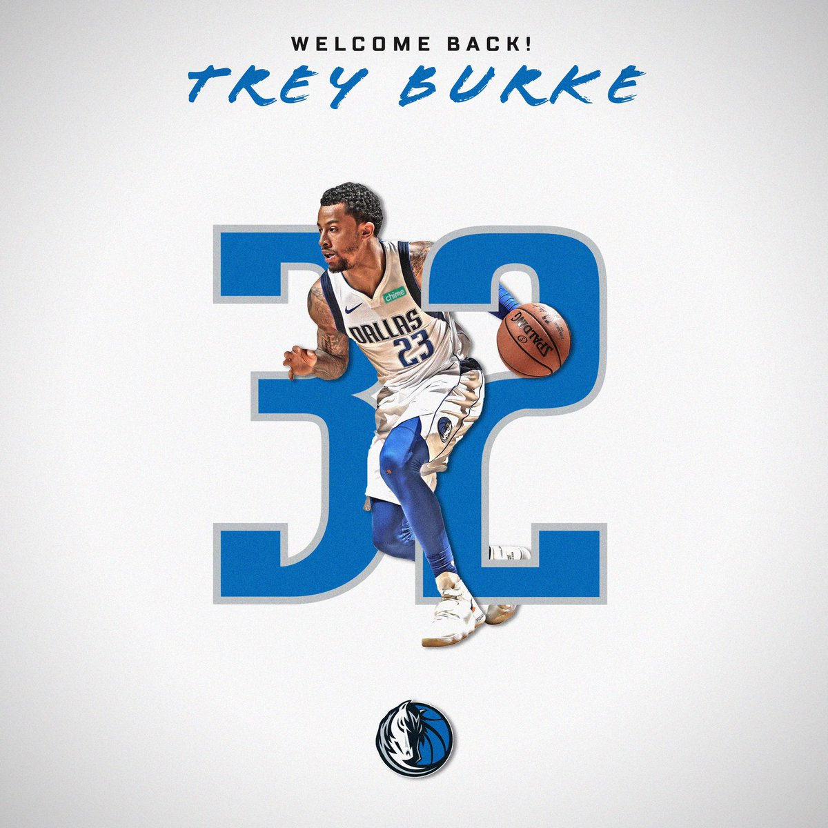From 23 ➡️ 32. Welcome back, @TreyBurke! #MFFL