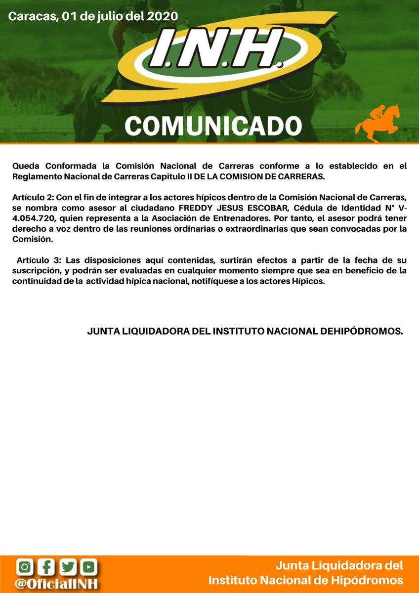 #Hipismo | Circular Administrativa sobre la renovación de la Comisión Nacional de Carreras (3/3) https://t.co/I6CSndLF47