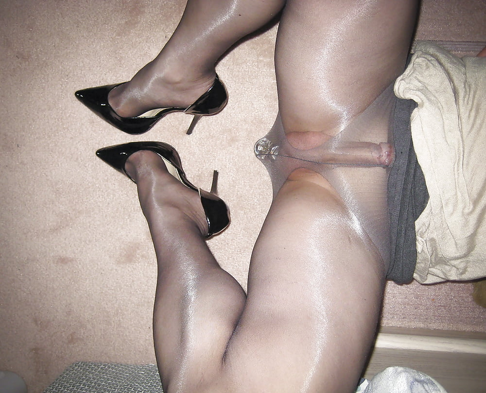 Busty amateur sexually trying on stockings and pantyhose