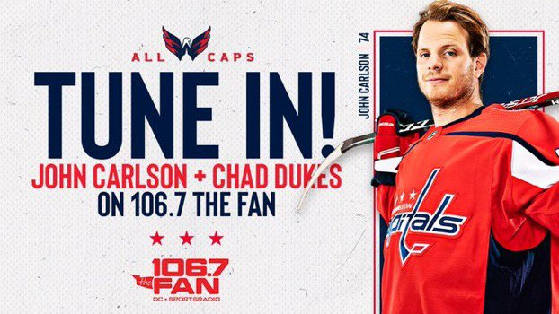 Catch John Carlson with @chaddukes on @1067theFan right now https://t.co/VjnCHs7qjf