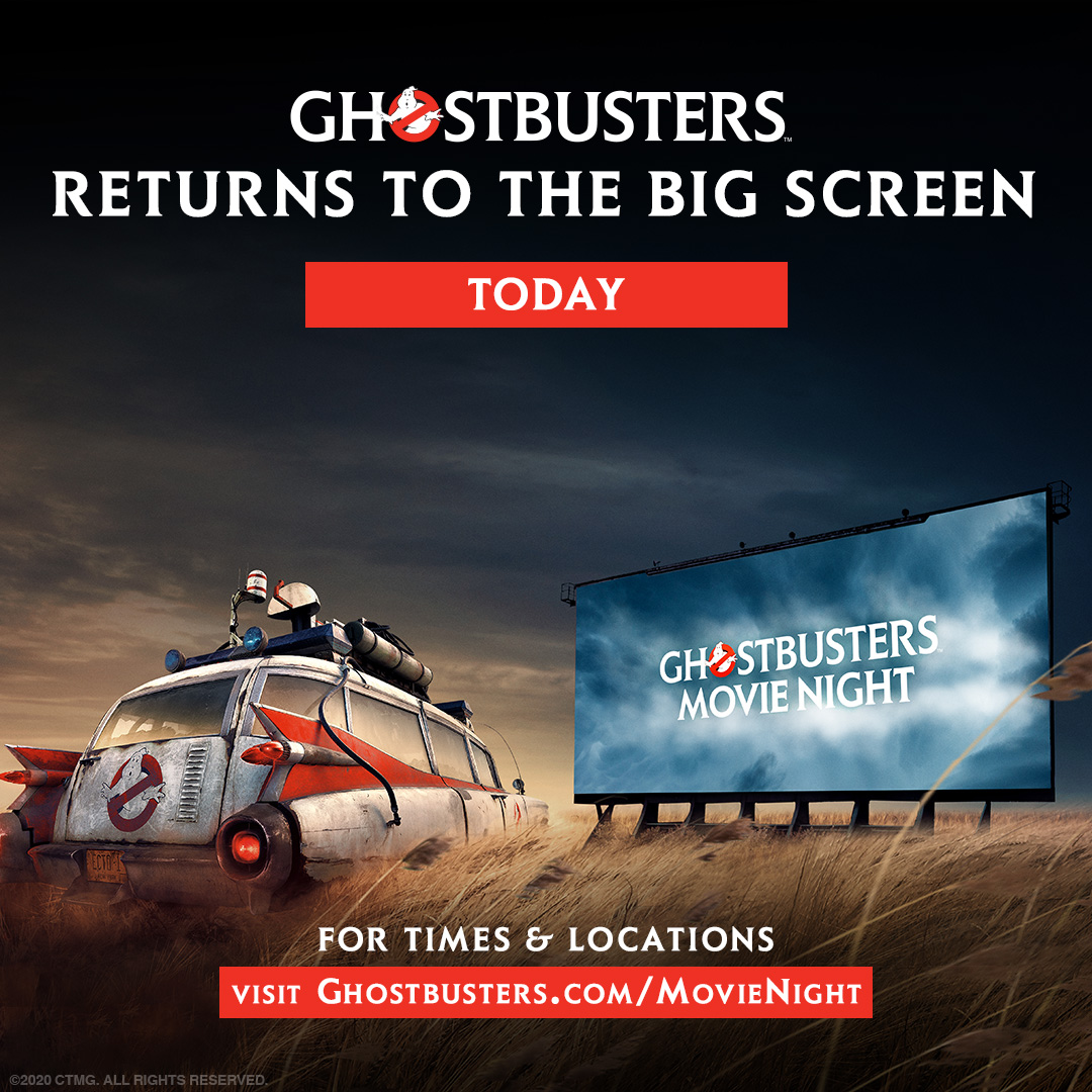 Holdin'. Smokin'. Ready! 💥 #Ghostbusters is BACK on the big screen NOW (and in even MORE locations)! Be sure to arrive early to see a NEW, special message for the fans.  Get tickets and find your location: https://t.co/m2ioaiiKAP. https://t.co/bWctFsTVw8