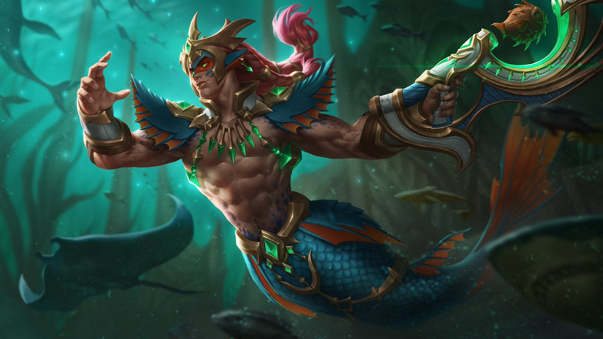 The prince of the oceans stands ready! Mernos Jenos splashes into Paladins in the Radiant Stars Update.
