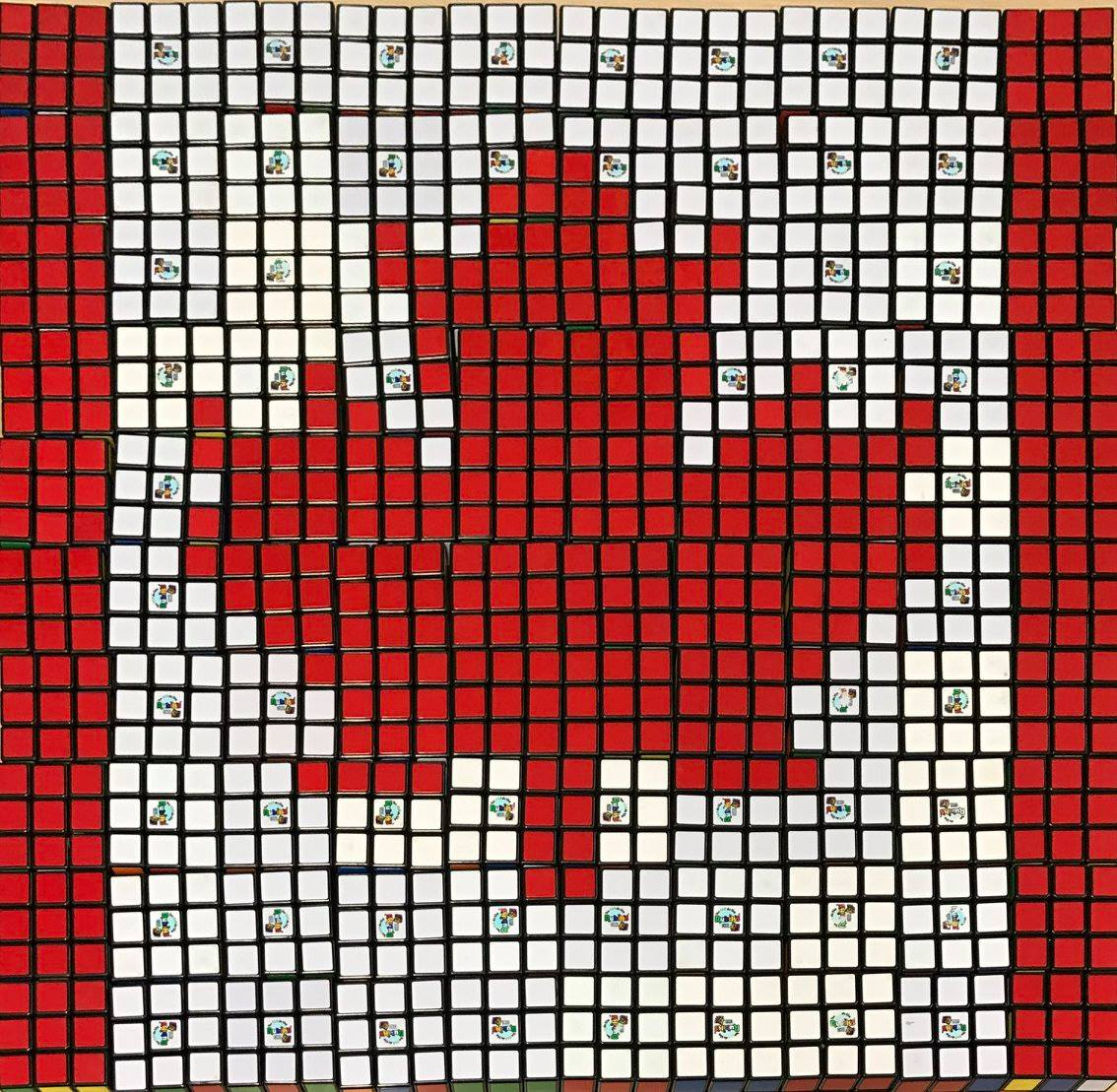 Today we celebrate Canada Day - Mosaic made by students at St James Middle School in Myrtle Beach, SC with 100 Rubik's Cubes #HappyCanadaDay #RubiksCubeMosaic @HCSInfo https://t.co/BvuoQ6yUpy
