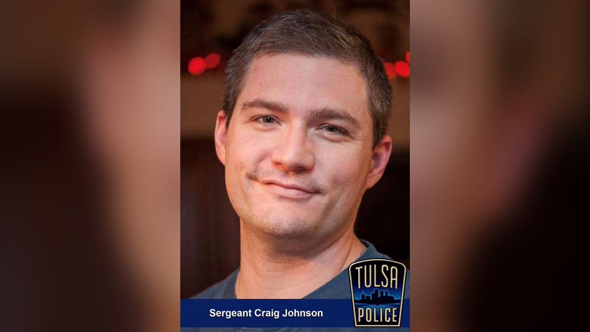 This is @TulsaPolice Sgt. Craig Johnson. Yesterday, he sacrificed his life on behalf of every person he served. Shot and killed by a violent criminal, Sgt. Johnson made a difference every day in his community. Our prayers are with his family and fellow cops. We will #NeverForget. <br>http://pic.twitter.com/Wp010orTV0