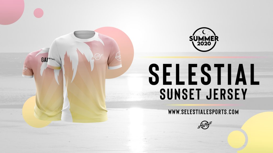 Surfs up guys! Our Summer 2020 merch has cruised its way onto our website! Be sure to get it while its hot! selestialesports.com/shop