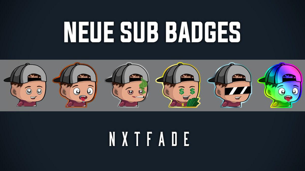 Vielen lieben Dank an meinen Moderator @Nytopix_Flo für die heftigen neuen SubBadgespic.twitter.com/mk6pH1H4yR  by • Niklas | NxtFaDe •