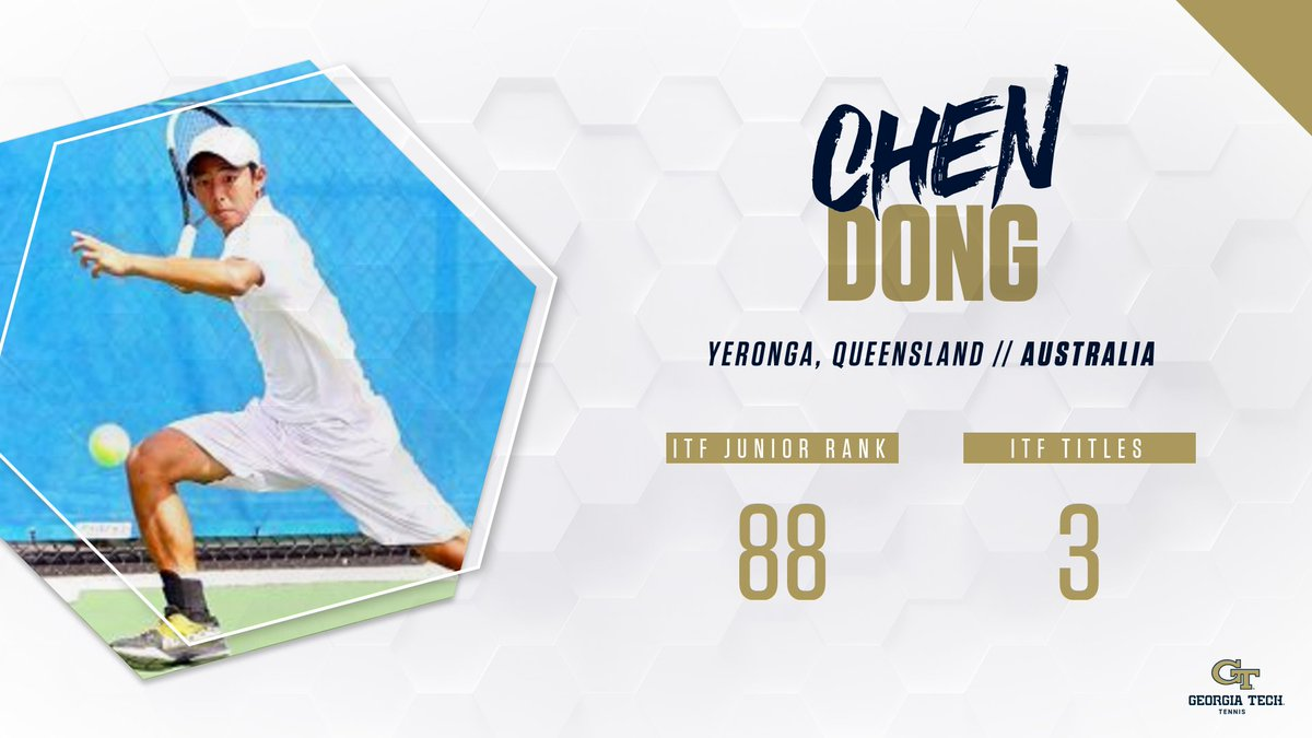 #FutureJackets Chen Dong, No. 2-ranked junior in Australia, signs letter-of-intent to attend Georgia Tech, will enroll for fall term. buzz.gt/mten-dong20