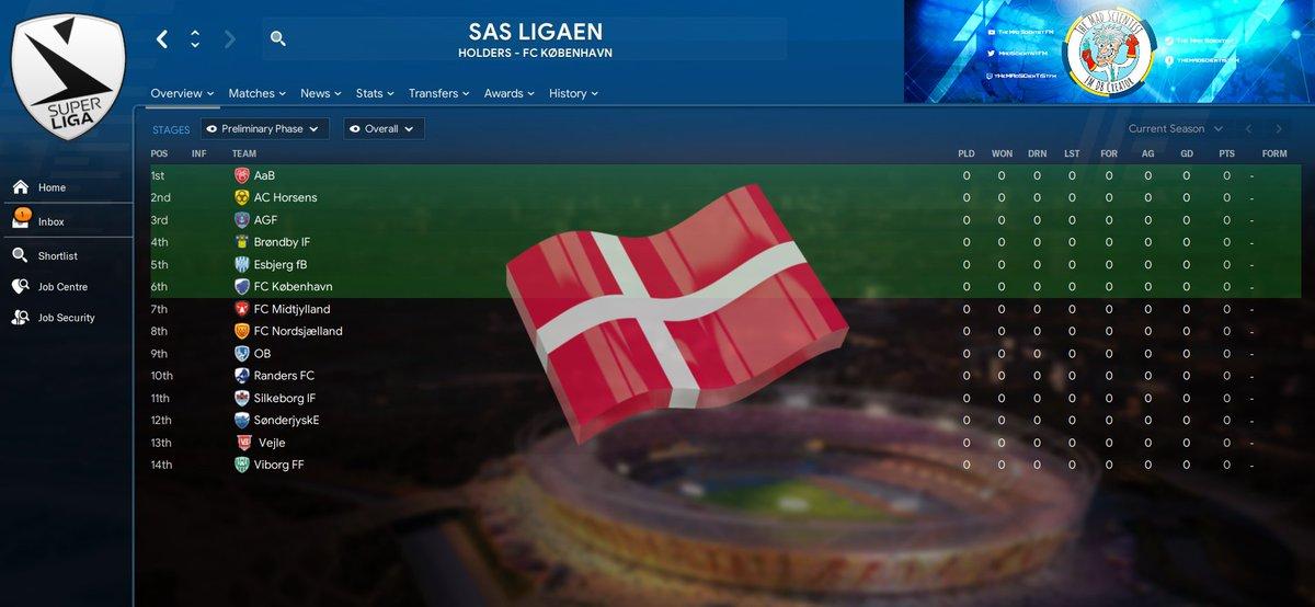 Next playable league that will be added to the 2006/07 DB  The Danish Superliga  #200607DB #2006Season #FM20 #Dinamarca #Denmark #Danmark #Danemark #SASligaenpic.twitter.com/603hHUkcOT