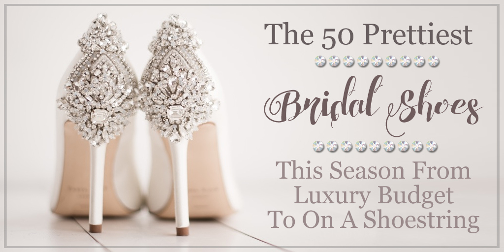 Every girl dreams of wearing the #prettiest shoes daily, but especially on her #weddingday. We've rounded up the seasons best #bridalshoes for you to walk the aisle. Read blog here: http://bit.ly/30sG7VO  for #luxury to shoestring budget. #weddingwednesday #bride #weddinghourpic.twitter.com/KH2lLqv3Au