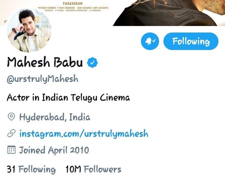 Superstar Rampage💥.. @urstrulyMahesh 🔥 Congrats anna for reaching 10M+ Hearts♥️ ...  #MaheshBabu  #HBDSuperstarKrishnaGaru  #SarkaruVaariPaata https://t.co/KLtqRuj9wr