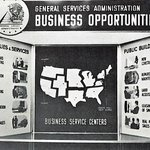 In 1964, the scope of federal contract opportunities was shown in this GSA exhibit displayed at locally sponsored business opportunity meetings held throughout the country.  Find federal business opportunities near you at https://t.co/I8O0RqwxF0.   @GSAOSDBU
