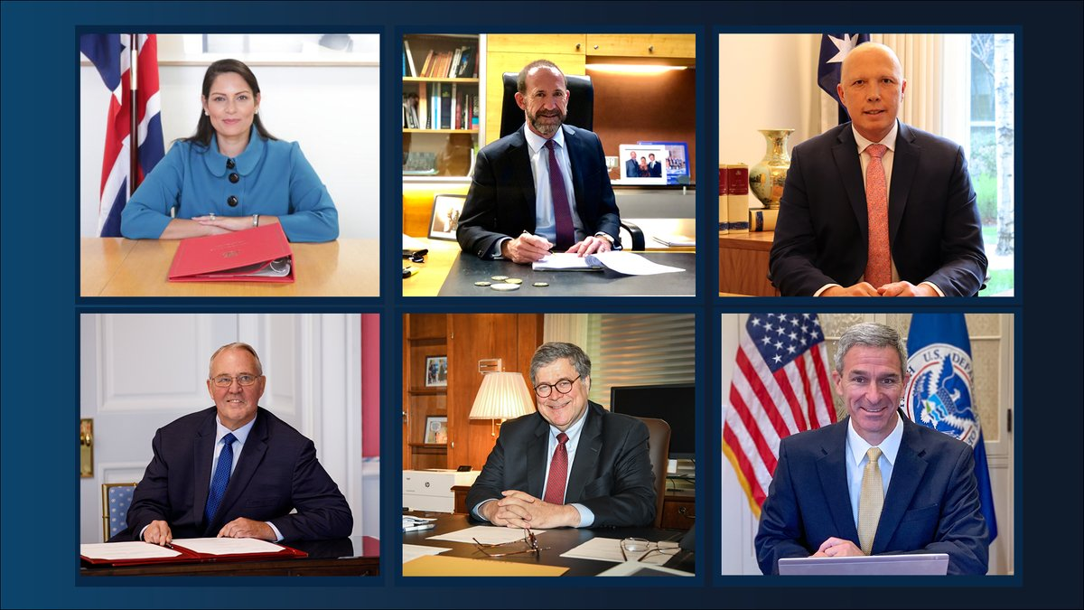 Last month, AG Barr took part in a virtual security ministerial with close partners from Australia, Canada, New Zealand & the UK. They discussed #COVID19's impact on global security & agreed to work together to combat threats in areas of mutual interest. https://t.co/PcCMgvRL6M https://t.co/KqKIeh8yXh