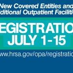 Image for the Tweet beginning: Reminder! The quarterly #340B registration