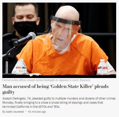 The Golden State Killer is wearing a mask